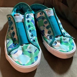 Coach Tennis Shoes Used 8 Green White